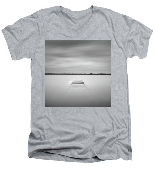 Pier Sinking Into The Water Men's V-Neck T-Shirt