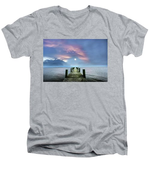 Pier To The Moon Men's V-Neck T-Shirt
