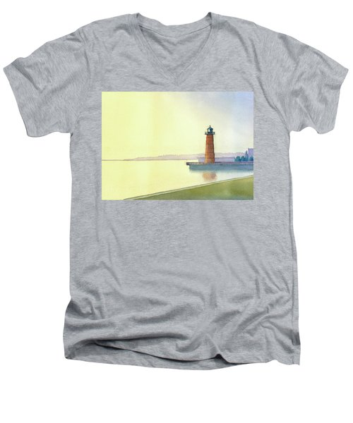 Pierhead Lighthouse, Milwaukee Men's V-Neck T-Shirt