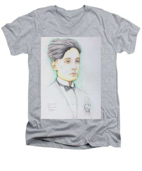 Pietro Minca 1926 Men's V-Neck T-Shirt