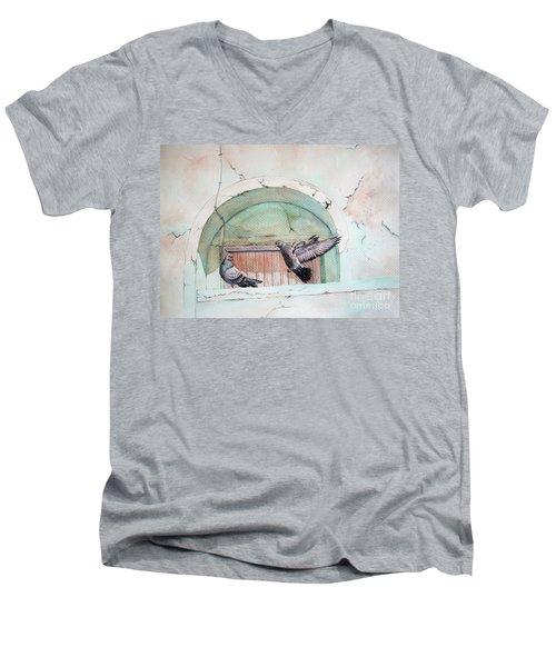 Pigeon Perch Men's V-Neck T-Shirt