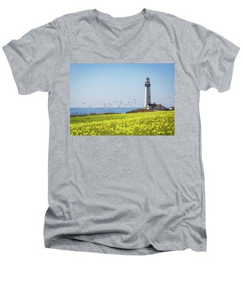 Pigeon Point Light Station Historic Park Men's V-Neck T-Shirt