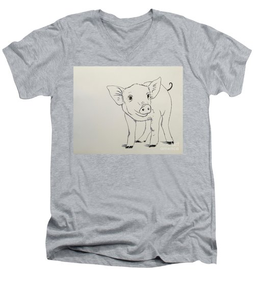 Piglet Men's V-Neck T-Shirt