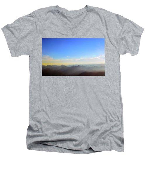 Pilchuck Sunrise Men's V-Neck T-Shirt