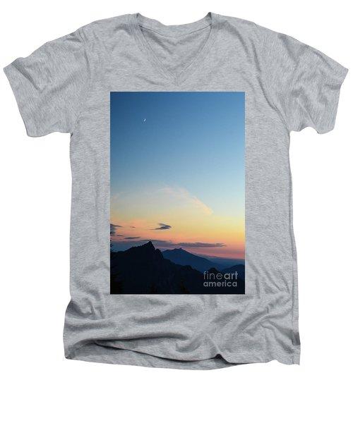 Pilchuck Sunset Men's V-Neck T-Shirt