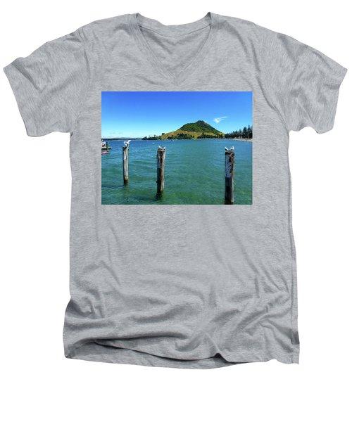 Pilot Bay Beach 3 - Mt Maunganui Tauranga New Zealand Men's V-Neck T-Shirt