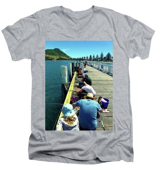 Pilot Bay Beach 6 - Mount Maunganui Tauranga New Zealand Men's V-Neck T-Shirt