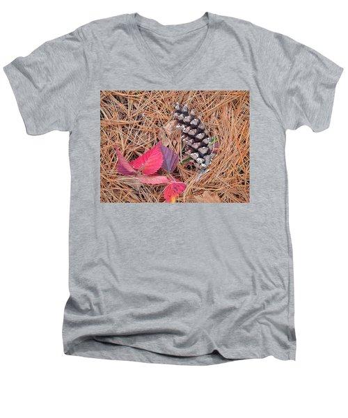 Pine Cone  Men's V-Neck T-Shirt