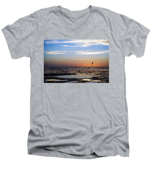 Pine Island Sunset Men's V-Neck T-Shirt