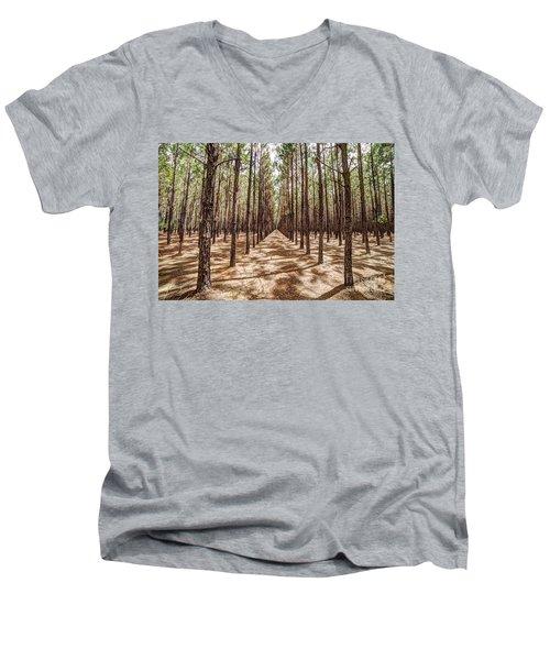 Pine Plantation Wide Color Men's V-Neck T-Shirt