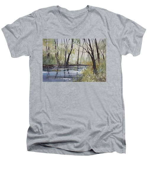 Pine River Reflections Men's V-Neck T-Shirt