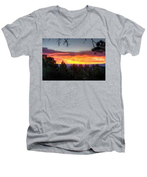 Pine Sunrise Men's V-Neck T-Shirt