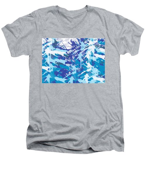 Pine Trees Men's V-Neck T-Shirt by Trilby Cole