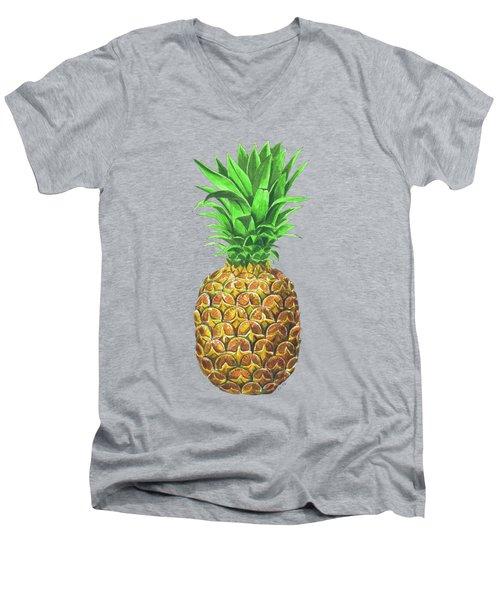 Pineapple, Tropical Fruit Men's V-Neck T-Shirt
