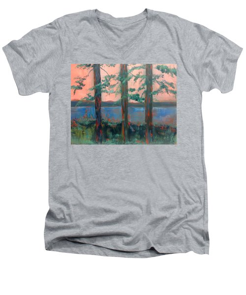 Pines At Dusk Men's V-Neck T-Shirt