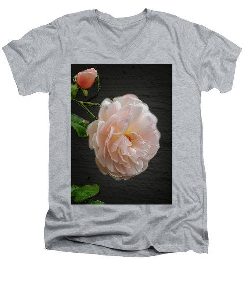 Pink A8 Men's V-Neck T-Shirt by Leif Sohlman
