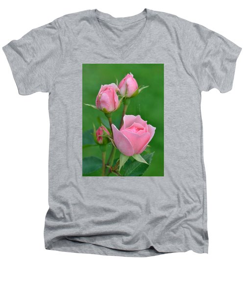 Pink And The Buds Men's V-Neck T-Shirt