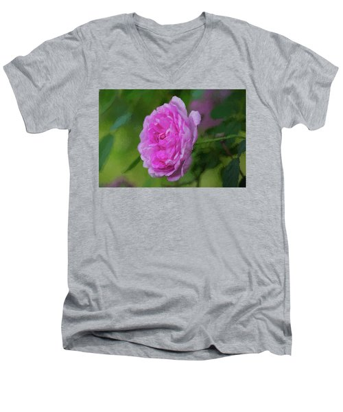 Pink Beauty In Bloom Men's V-Neck T-Shirt