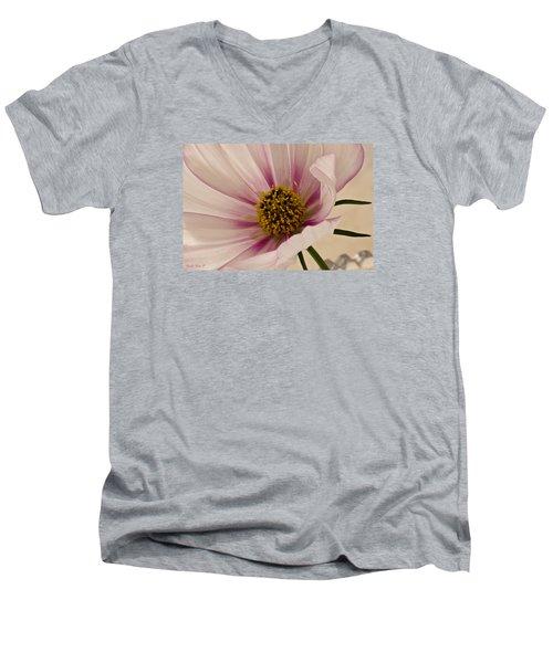 Pink Bi Color Cosmo Macro Men's V-Neck T-Shirt