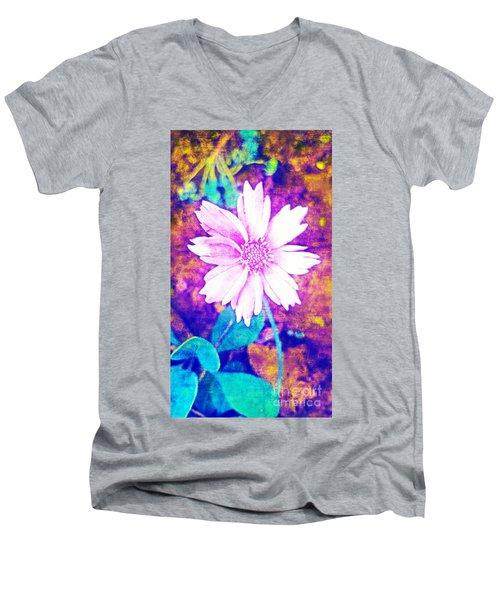 Pink Bloom Men's V-Neck T-Shirt