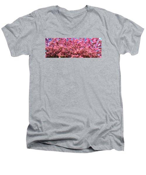 Pink Blossoms Of Spring Men's V-Neck T-Shirt