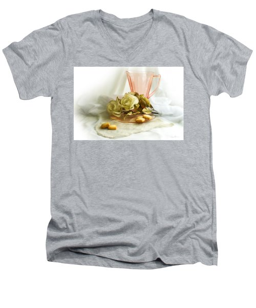 Pink Blush 1 Men's V-Neck T-Shirt