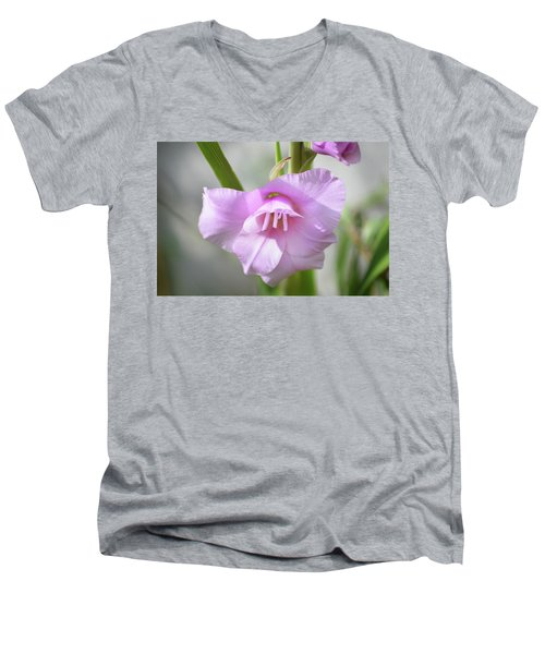 Men's V-Neck T-Shirt featuring the photograph Pink Blush by Terence Davis