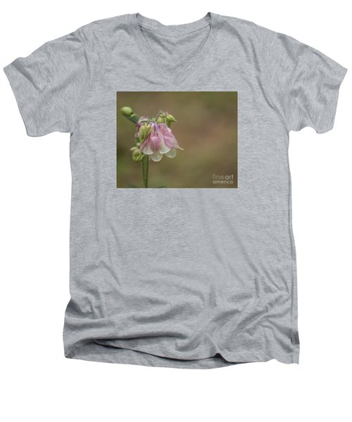 Pink Columbine II 2015 Men's V-Neck T-Shirt