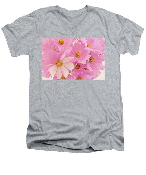 Pink Cosmos Sonata  Men's V-Neck T-Shirt