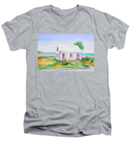 Pink Cottage Men's V-Neck T-Shirt