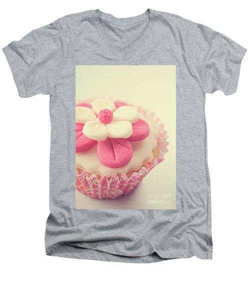Pink Cupcake Men's V-Neck T-Shirt