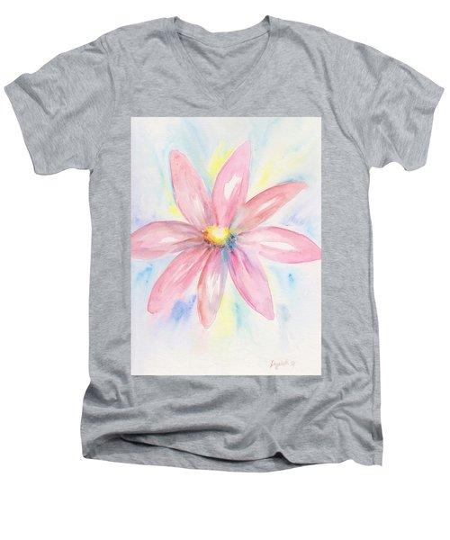 Pink Daisy Men's V-Neck T-Shirt
