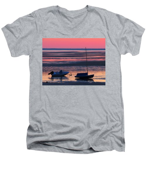 Men's V-Neck T-Shirt featuring the photograph Pink Dawn by Dianne Cowen