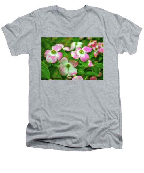 Pink Dogwoods 003 Men's V-Neck T-Shirt
