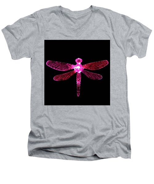 Pink Dragonfly Men's V-Neck T-Shirt