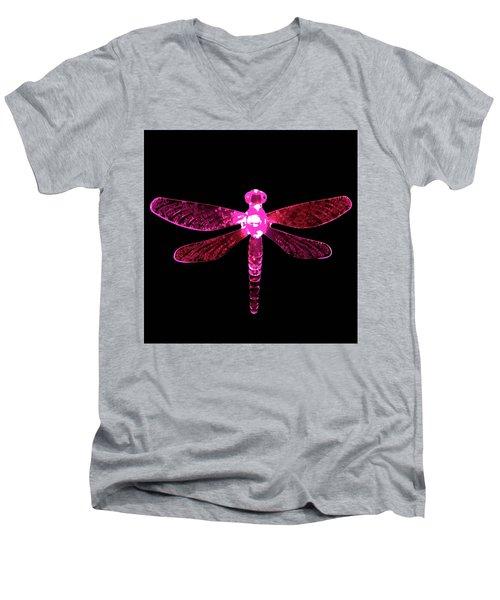 Pink Dragonfly Men's V-Neck T-Shirt