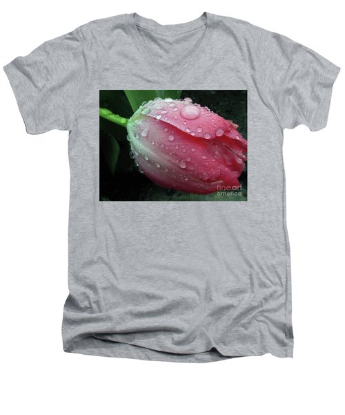Pink Drops 2 Men's V-Neck T-Shirt