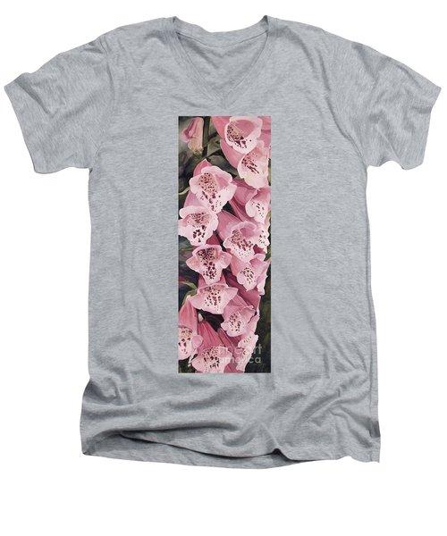 Pink Foxglove Men's V-Neck T-Shirt