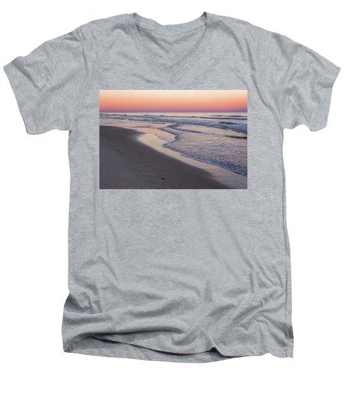Pink Glow Seaside New Jersey 2017 Men's V-Neck T-Shirt