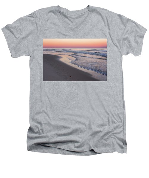 Pink Glow Seaside New Jersey 2017 Men's V-Neck T-Shirt