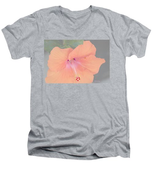 Pink Heavenly Hibiscus Men's V-Neck T-Shirt