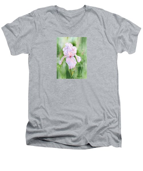 Pink Iris Men's V-Neck T-Shirt