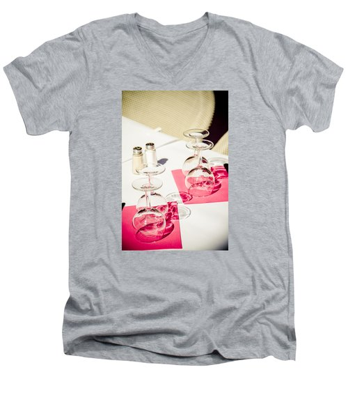 Men's V-Neck T-Shirt featuring the photograph Pink by Jason Smith