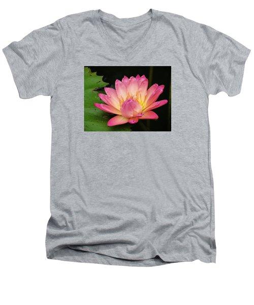 Pink Lily 1 Men's V-Neck T-Shirt