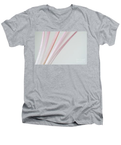 Pink Minimallism Men's V-Neck T-Shirt