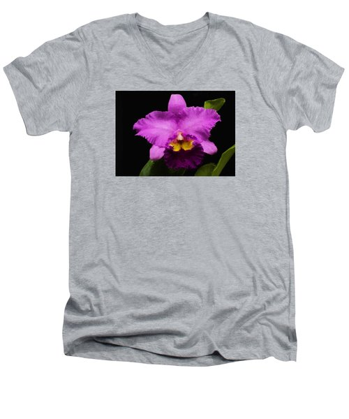 Pink Orchid Men's V-Neck T-Shirt