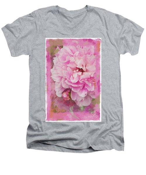 Pink Peony 2 Men's V-Neck T-Shirt