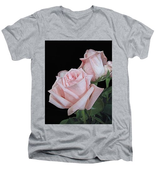 Pink Persuasion Men's V-Neck T-Shirt by Suzy Piatt