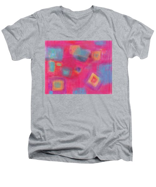 Pink Play Men's V-Neck T-Shirt by Susan Stone
