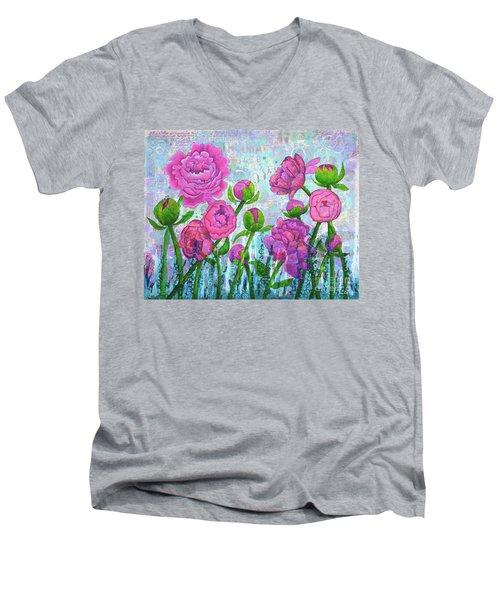 Pink Punch Men's V-Neck T-Shirt